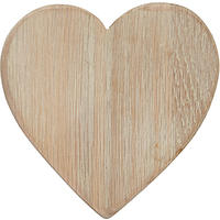 Dassie Weathered Oak Heart Coaster