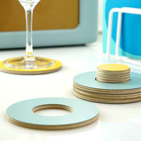 Block Coasters - Yellow and Blue