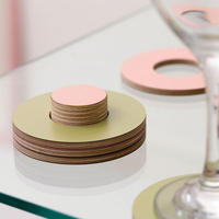 Block Coasters - Pink and Olive