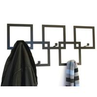 The Square Metal Coat Rack - Black
