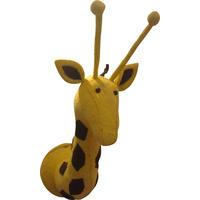 Mr Giraffe Felt Head Wall Decor