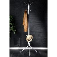 Retro colourful hat and coat stand white rack 8 hooks tripod