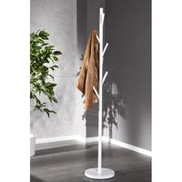 TREE - design hat and coat stand white rack 5 hooks