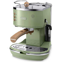 Delonghi - Vintage Icona Espresso Coffee Machine - ECOV310 - Olive Green