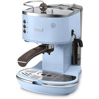 Delonghi - Vintage Icona Espresso Coffee Machine - ECOV310 - Azure Blue