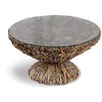 Shore Round Driftwood Coffee Table