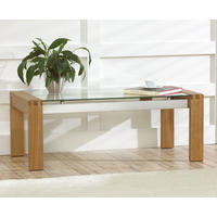 Roma Oak & Glass Coffee Table from Oak & Ash Furniture