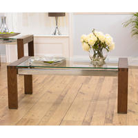Roma Walnut & Glass Coffee Table