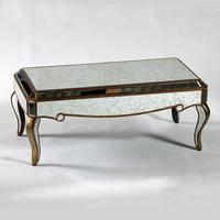 Antique Venetian Mirrored Coffee Table