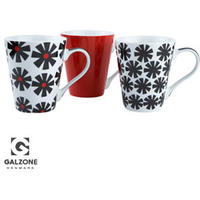 Galzone Assorted Red Mugs - Set of 3