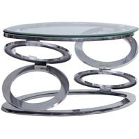 Metal Hoops Coffee Table with Glass Top