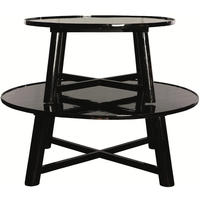 Asia Round Black Lacquered Coffee Table