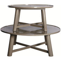 Asia Round Grey Lacquered Coffee Table
