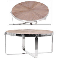 Spectrum Round Wood & Steel Coffee Table