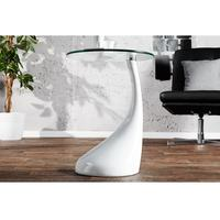 Design lounge coffee table white high gloss glass table side table