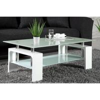 MALTA - design coffee table white high gloss glass table