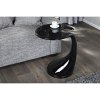 ORGANIC - design coffee table black high gloss retro lounge table side table