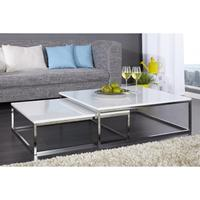 FUSION - nest of two tables white high gloss coffee tables