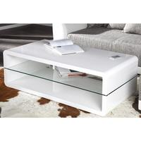 SPECTRUM - design coffee table white high gloss glass table