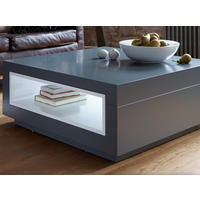 Savoye Graphite Lacquer Square Coffee Table