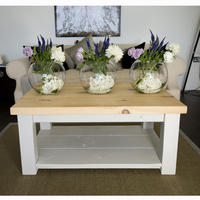 Old English Painted Coffee Table With Shelf