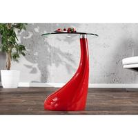 Design lounge coffee table red high gloss glass table side table
