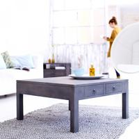 Miro Grey mindi wood Coffee Table 80x80