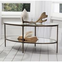 Temperley Bronze Oval Glass Coffee Table