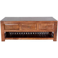 Alwar Mango Light Solid Wood Coffee Table with Drawers