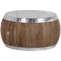 Isabo Round Reclaimed Wood & Metal Coffee Table