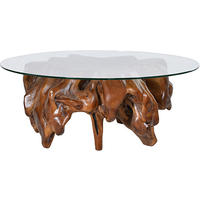 Root Wood & Glass Large Coffee Table