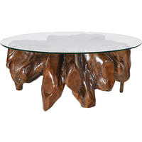 Root Wood & Glass Medium Coffee Table