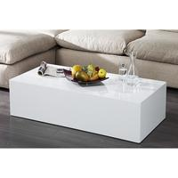 Silex XL - 120 cm white high gloss coffee table