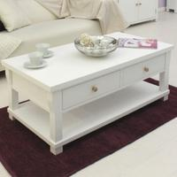 Lila White Painted Coffee Table with Drawers