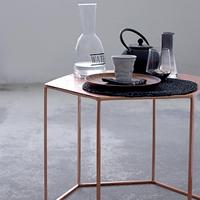 Copper-Plated Hexagonal Coffee Table