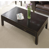 Hanoi Black Lacquer Oriental Coffee Table with Drawers