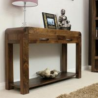 Chunky Solid Walnut Console Table