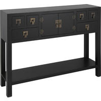 Rama  Sita Black Console Table