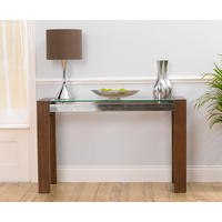 Roma Walnut & Glass Console Table