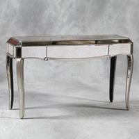 Silver Trimmed Venetian Console Table