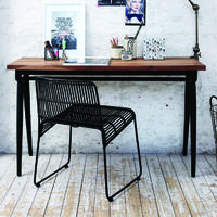 Soho Industrial Wood & Iron Console Table/Desk