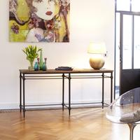 Gatsby Metal and Elm Console 180