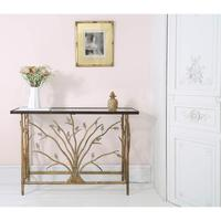 Branching Out Gold Console Table