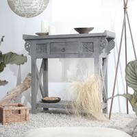 Antika Grey Mango Wood Console Table 85