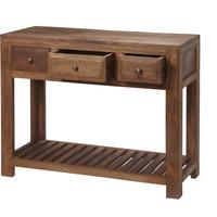 Alwar Mango Light Solid Wood Console Table with Drawers