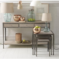 Marseille Elspeth Wood & Metal Console Table