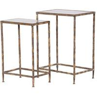 Glass Topped Console Tables - One Pair
