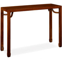 Ming Console Table - dark elm