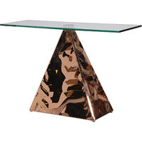 Peak Copper & Glass Console Table