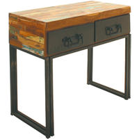 Industrial Chic Reclaimed Wood Console Table